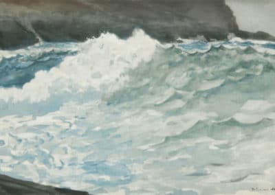 Surf, Prout's neck - Winslow Homer (1895)
