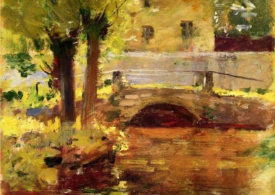 The bridge at Giverny - Theodore Robinson (1891)