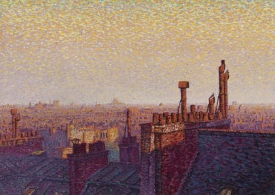 The roofs of Paris, Sunset - Gustave Cariot (1899)