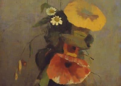 Vase avec coquelicot - Odilon Redon (1876)