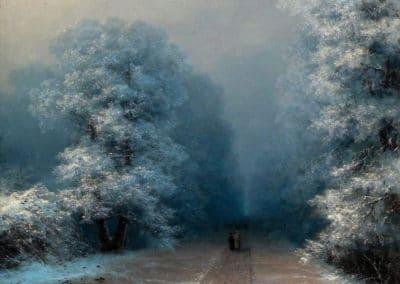 Winter landscape - Ivan Konstantinovič Ajvazovskij (1876)
