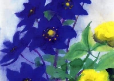 Blue and yellow flowers - Emil Nolde (1931)