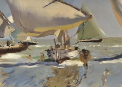 Boats on the beach - Joaquín Sorolla y Bastida (1909)
