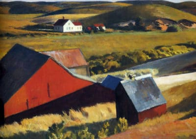 Cobbs barns and distant houses - Edward Hopper (1930)
