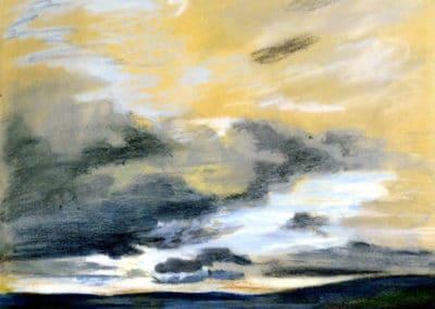 Etude de ciel au crépuscule - Eugène Delacroix (1842)