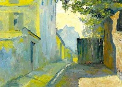 La rue Saint Denis, Montmartre - Gustave Caillebotte (1880)