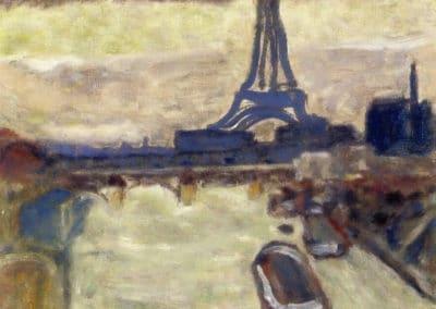 La tour Eiffel et la Seine - Pierre Bonnard (1906)