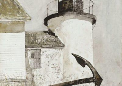 Le phare abandonné - Andrew Wyeth (1977)