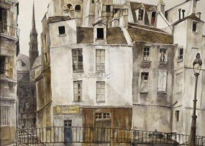 Le quai aux fleurs, Notre-Dame - Léonard Foujita (1950)