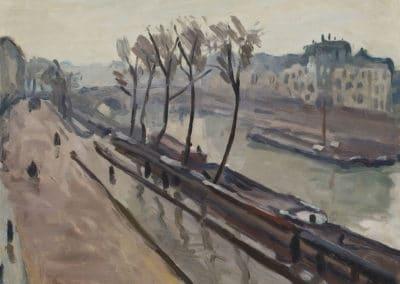 Le quai des Grands-Augustins sous la pluie - Albert Marquet (1906)