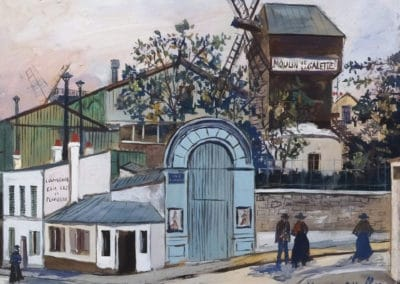 Moulin de la Galette, carrefour rue Lepic et rue Girardon - Maurice Utrillo (1935)
