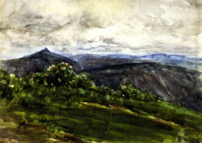 Mountain landscape, highlands, North Carolina - Henry Tanner (1904)