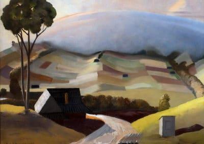 Mountains landscape - Rafał Malczewski (1932)