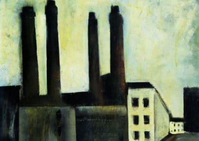 Paesaggio urbano - Mario Sironi (1921)