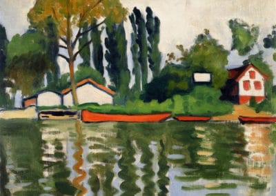 Peupliers à Villennes - Albert Marquet (1921)