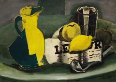 Pichet et journal - Georges Braque (1941)