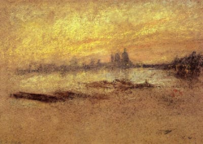 Red and gold Salute-sunset - James Whistler (1880)