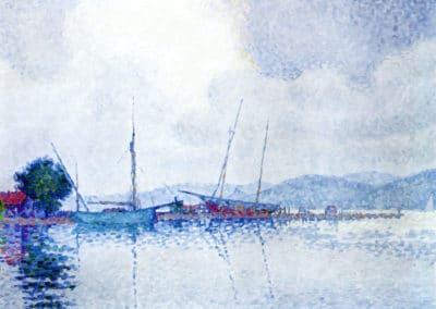 Saint-Tropez après la tempête - Paul Signac (1895)