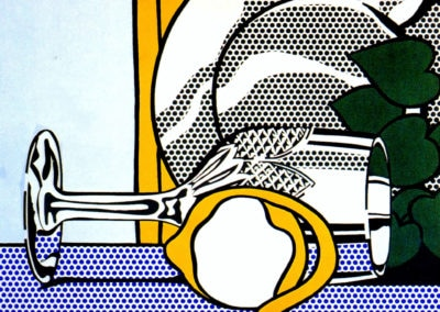 Still life with crystal goblet and lemon - Roy Lichtenstein (1972)