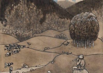 Trolls et forêts maléfiques du Nord - John Bauer 1910 (1)