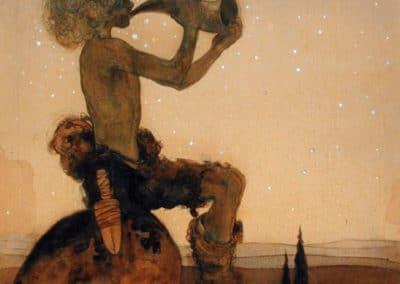 Trolls et forêts maléfiques du Nord - John Bauer 1910 (14)