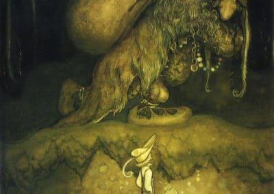 Trolls et forêts maléfiques du Nord - John Bauer 1910 (17)