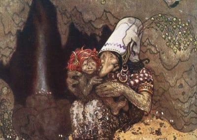 Trolls et forêts maléfiques du Nord - John Bauer 1910 (24)