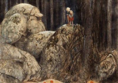 Trolls et forêts maléfiques du Nord - John Bauer 1910 (25)