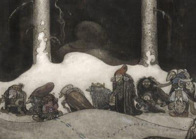 Trolls et forêts maléfiques du Nord - John Bauer 1910 (30)