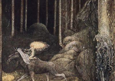 Trolls et forêts maléfiques du Nord - John Bauer 1910 (31)