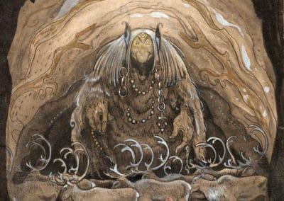 Trolls et forêts maléfiques du Nord - John Bauer 1910 (40)