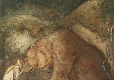 Trolls et forêts maléfiques du Nord - John Bauer 1910 (5)