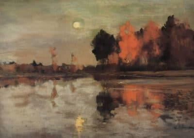 Twilight, moon - Isaac Levitan (1898)