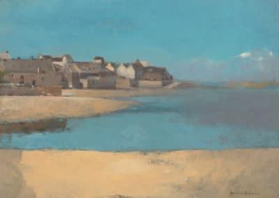 Un village sur la mer en Bretagne - Odilon Redon (1880)