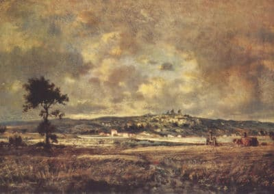 View of the plain of Montmartre, effect of storm - Théodore Rousseau (1895)