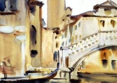 Bridge and campanile, Venice - John Singer Sargent (1902)