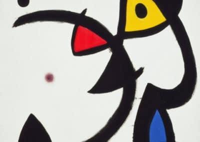 Deux personnages avec un violon - Joan Miro (1976)