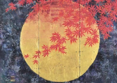 Maple tree listening the moon whispering - Kazuko Shiihashi (2014)