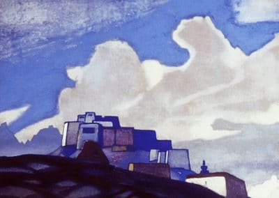 Monastery in the mountains - Nicholas Roerich (1897)