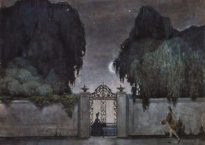 Rendez-vous nocturne - Konstantin Somov (1929)