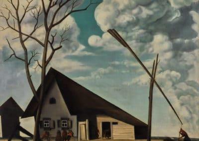 Russian landscape - Vasily Shukhaev (1922)