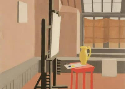 Studio interior (red stool) - Wilhelmina Barns-Graham (1945)