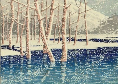 Taisho Pond, Kamikochi - Kawase Hasui (1931)