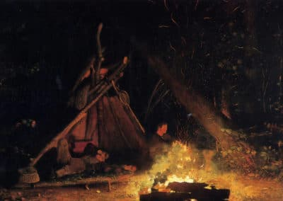 Camp fire - Winslow Homer (1895)