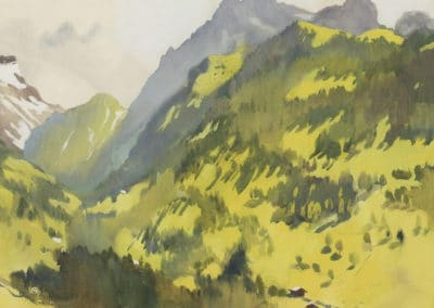 In the mountains, Switzerland - Zinaida Serebriakova (1914)