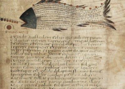 Les calligrammes du manuscrit d'Aratea 820 (11)
