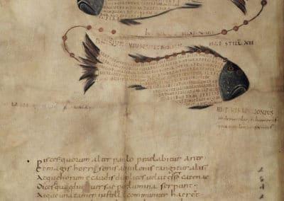 Les calligrammes du manuscrit d'Aratea 820 (13)