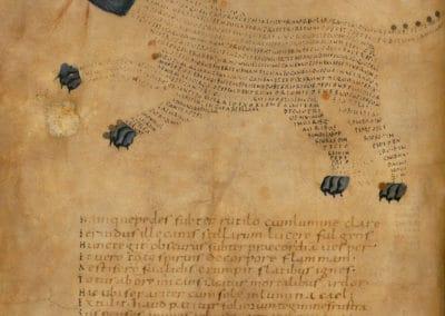Les calligrammes du manuscrit d'Aratea 820 (14)