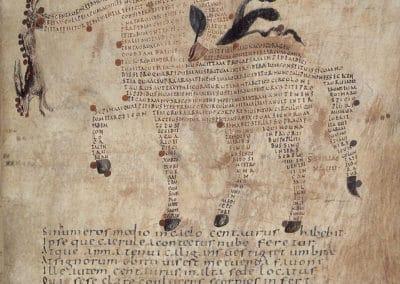 Les calligrammes du manuscrit d'Aratea 820 (5)
