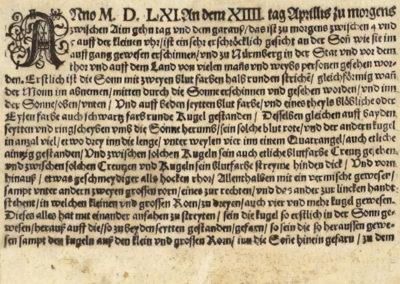 Phénomène céleste de Nuremberg - Hans Glaser 1561 (1)